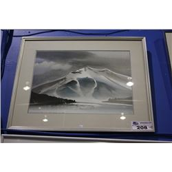 "FRAMED PRINT - ""WHISTLER MOUNTAIN EVER GREEN LAKE BC 1988"""