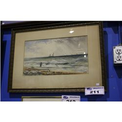 FRAMED WATERCOLOR  - SEA FEAST BY W.J. BABER