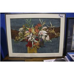 FRAMED ARTWORK - SIGNED LEONARD BROOKS