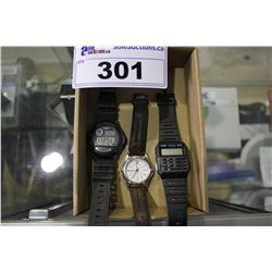 3 ASSORTED WRIST WATCHES