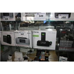 SHELF LOT OF ASSORTED IHOME BLUETOOTH/WIRELESS CHARGING ALARM CLOCKS