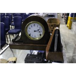 VINTAGE MANTLE CLOCK & METRONOME