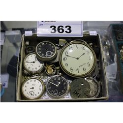 ASSORTED POCKET WATCHES/PARTS
