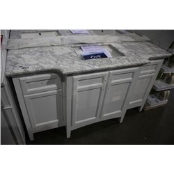 OVE DECOR ODESSA 60 SINGLE SINK MARBLE TOP BATHROOM VANITY - 60LX22WX34.5H""