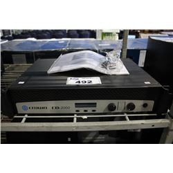 CROWN AUDIO CDI 2000 2 CHANNEL COMMERCIAL POWER AMPLIFIER