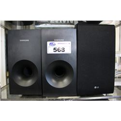 2 SONY & 1 LG SUBWOOFERS