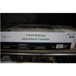 MAINSTAYS 5-SHELF BIRCH BOOKCASE IN BOX