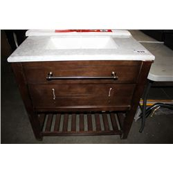 OVE HARRY 36 SINGLE SINK BATHROOM VANITY (DAMAGED)