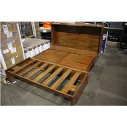 WOODEN QUEEN SIZED BED FRAME