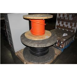 TWO PARTIAL ROLLS OF COMMERCIAL GRADE CABLE