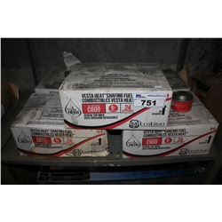 FIVE BOXES OF VESTA HEAT CHAFING FUEL  (APPROX. 24 PER BOX)