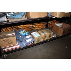 SHELF LOT INCLUDING BOX OF STICKY TRAPS, UNIVERSAL FLAT TOP GRIDDLES, MOSQUITO REPELLANT COILS AND