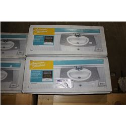 TWO AMERICAN STANDARD CORONETTE WHITE COUNTERTOP SINKS