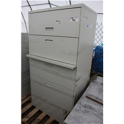 5 DRAWER METAL LATERAL FILE CABINET