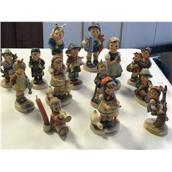 FOURTEEN ASSORTED GOEBELS FIGURINES