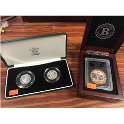 TWO CASED SILVER PROOF VICTORIA CROSS COIN SETS