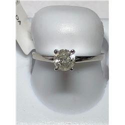 14KT WHITE GOLD DIAMOND (0.52CT) RING (2.01G)