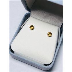 14KT GOLD CITRINE EARRINGS