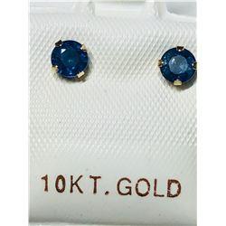 10KT GOLD SAPPHIRE (0.72CT) EARRINGS