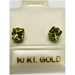 10KT GOLD PERIDOT EARRINGS