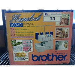 BROTHER SEWING MACHINE MODEL 1034D