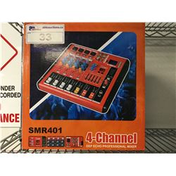 SMR401 4-CHANNEL DSP ECHO PROFESSIONAL MIXER