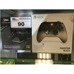 PHANTOM BLACK XBOX CONTROLLER & CHARGE STATION