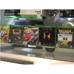 5 ASSORTED XBOX ONE GAMES