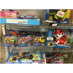 VTECH PAW PATROL TREAT TIME MARSHALL, 6 ASSORTED PAW PATROL FIGURINES