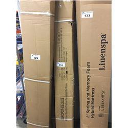 2 METAL & WOOD SLAT PLATFORM FOUNDATION BED FRAMES FOR TWIN XL