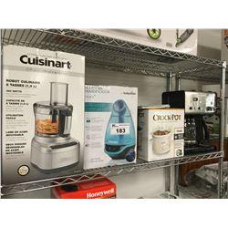 CUISINART 8-CUP FOOD PROCESSOR, BABYMOOV HUMIDIFIER, CROCK POT, CUISINART COFFEE MACHINE