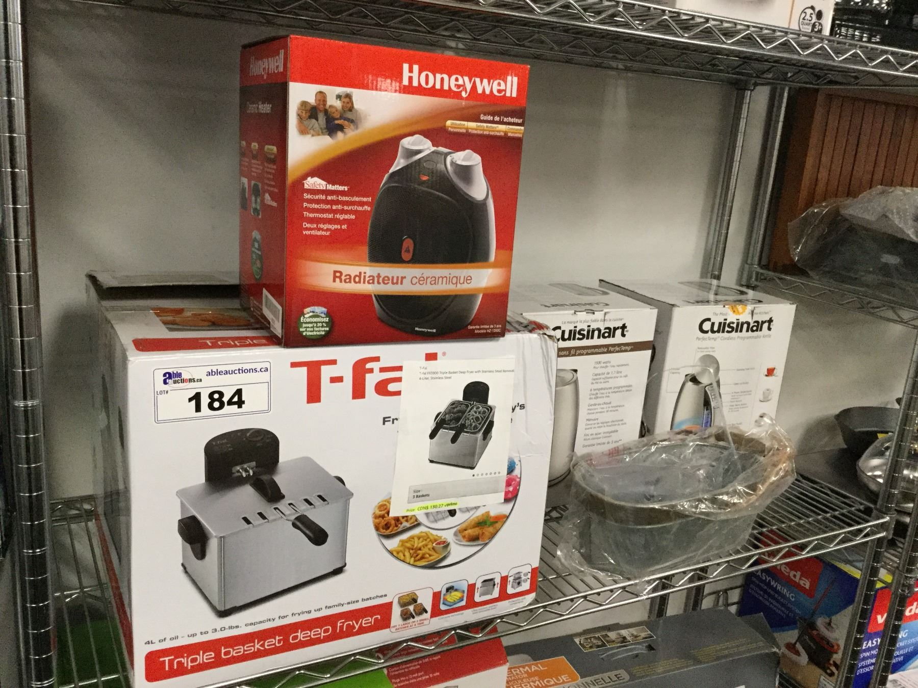 t-fal triple basket deep fryer, honeywell ceramic heater, cuisinart