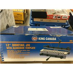 """KING CANADA 12"""" DOVETAIL JIG WITH ALUMINUM TEMPLATE"""