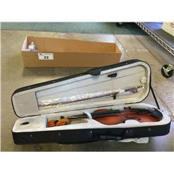MENDINI VIOLIN WITH CASE & ACCESSORIES