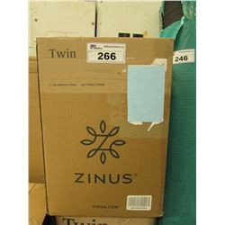 "ZINUS 4"" TWIN GEL MEMORY FOAM MATTRESS"