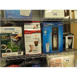 ZOJIRUSHI WATER BOILER & WARMER, SUNBEAM 6-CUP BLENDER, SODASTREAM SOURCE, BLACK & DECKER 2-IN-1