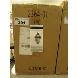 LIVEX LIGHTING 2364-01 GEORGETOWN 3 LIGHT OUTDOOR LIGHT FIXTURE