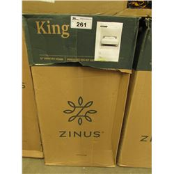 "ZINUS 12"" KING MEMORY FOAM MATTRESS"