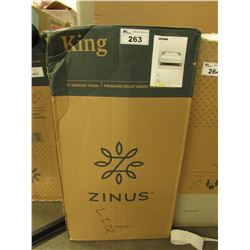 "ZINUS 12"" KING MEMORY FOAM MATTRESS"