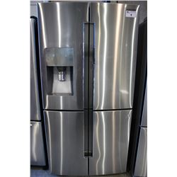 STAINLESS STEEL SAMSUNG FOUR DOOR FRIDGE/FREEZER WITH WATER/ICE