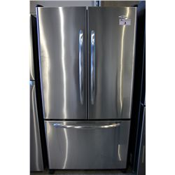 STAINLESS STEEL MAYTAG TWO DOOR REFRIGERATOR - FREEZER DRAWER JAMMED