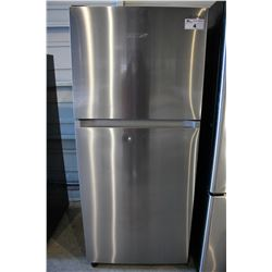 STAINLESS STEEL SAMSUNG REFRIGERATOR WITH TOP FREEZER