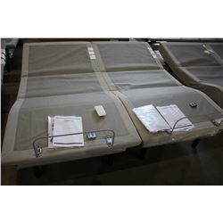 KING SIZED TEMPUR-PEDIC TEMPUR-ERGO PLUS ELECTRIC ADJUSTABLE BED WITH TWO WIRELESS REMOTES (TWO