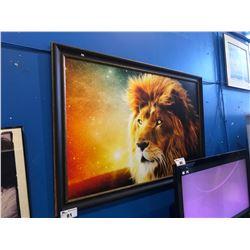 "LARGE 61X40"" FRAMED PRINT - INTERSTELLAR LION"