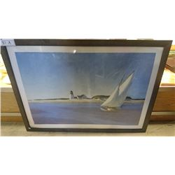 FRAMED PRINT - SAILING BY THE SHORE