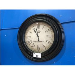 EDINBURGH CLOCKWORKS CO, LONDON ENGLAND WALL CLOCK