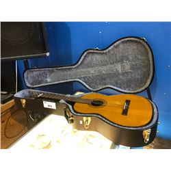 EL DEGAS MODEL # CL-42 ACOUSTIC GUITAR WITH HARD SHELL CASE