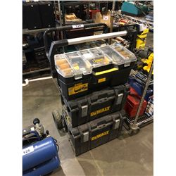 DEWALT MOBILE TOOL CHEST WITH PARTS BIN