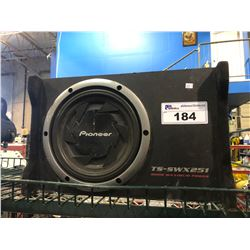 PIONEER TS-SWX251 800 WATT CAR SUBWOOFER