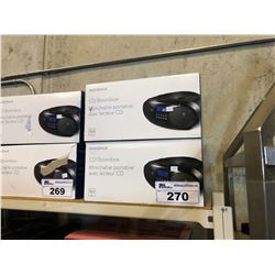PAIR OF INSIGNIA CD BOOMBOXES